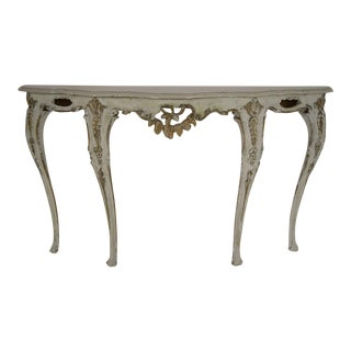 Louis XV-Style Italian Marble Top Wall Console