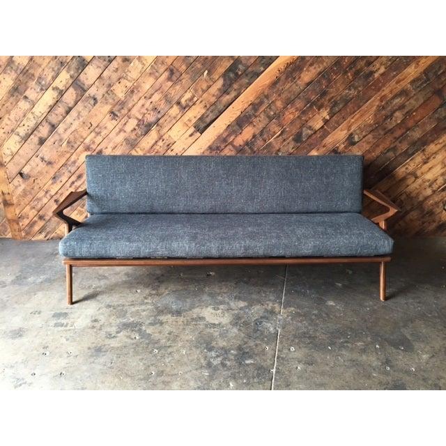 mid century style custom z sofa chairish. Black Bedroom Furniture Sets. Home Design Ideas