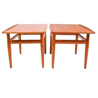 Grete Jalk Teak End Accent Tables - A Pair