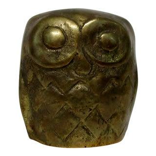 Mini Brass Owl
