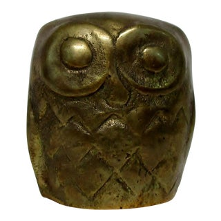 Mini Brass Owl