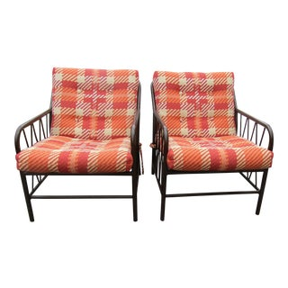 Mid-Century Modern Patio Accent Chairs - A Pair