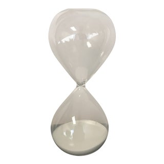 White Sand Filled Hourglass