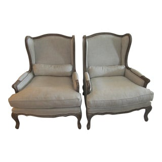 Restoration Hardware Wingback Chairs - A Pair