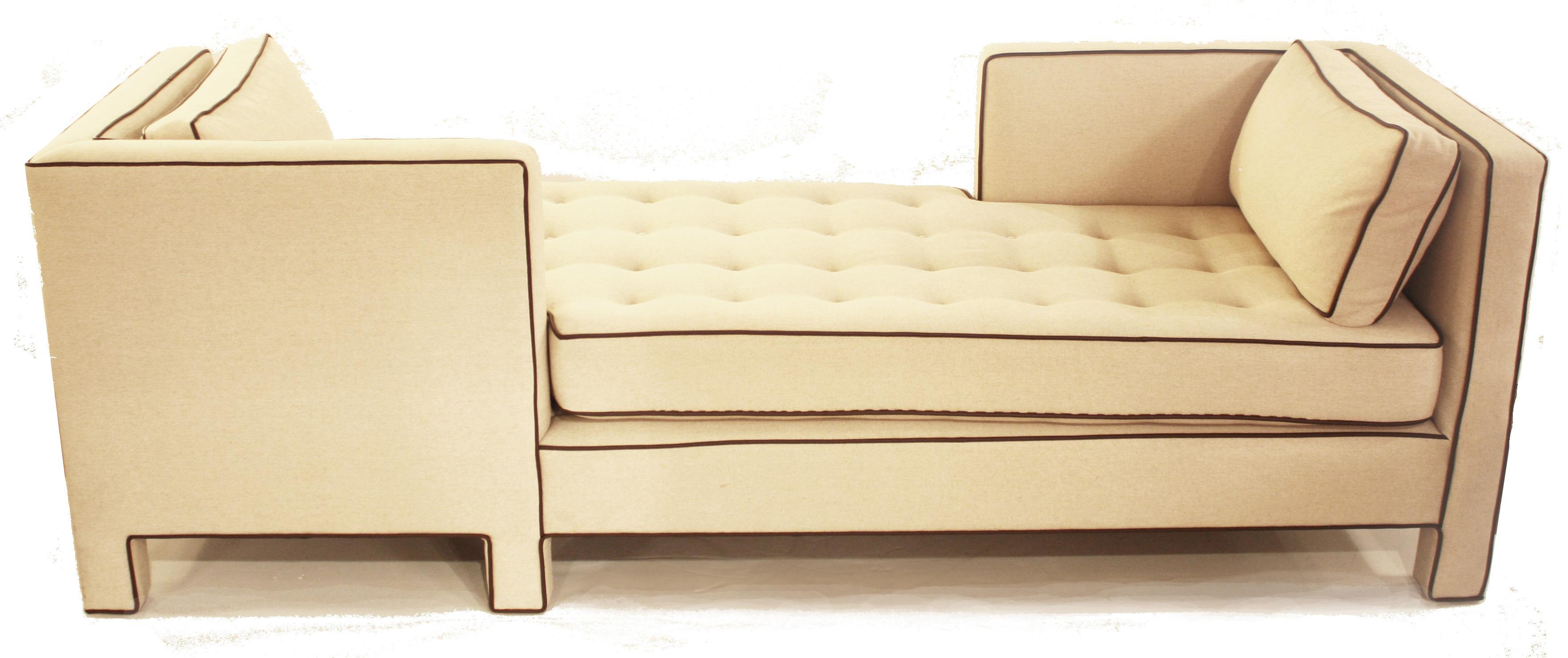 Dunbar Tete A Tete Sofa Attributed To Designer Edward Wormley   Image 3 Of