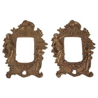 Bronze Frames with Angel Motifs - Pair