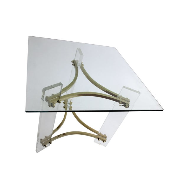 Mid-Century Charles Hollis Jones Lucite Side Table - Image 6 of 6