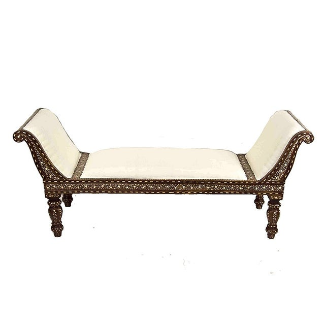 Anglo Indian Bone Inlay Chaise Lounge - Image 1 of 4