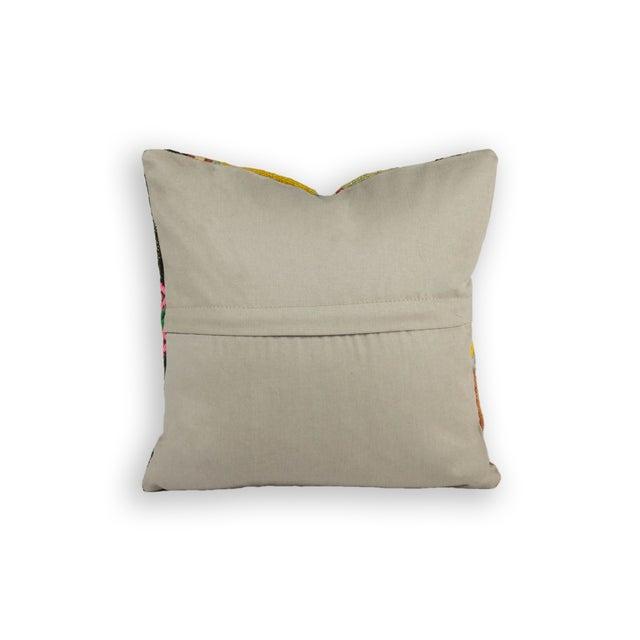 Vintage Square Kilim Pillow - Single - Image 2 of 2