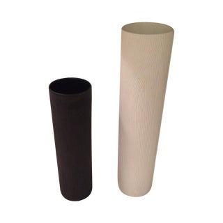 Black and White Rosenthal Vases - A Pair