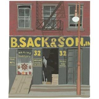 """Witold Gordon Gouache """"B. Sack & Son - Vanity Fair"""""""