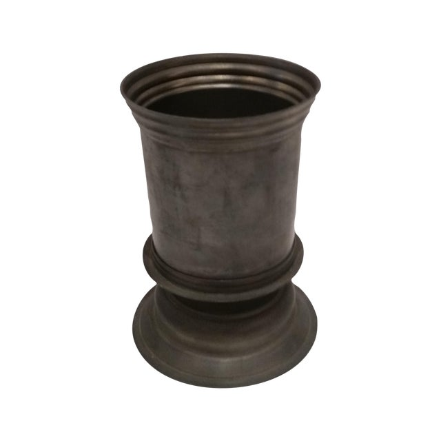 English Vintage Pewter Vase - Image 1 of 5