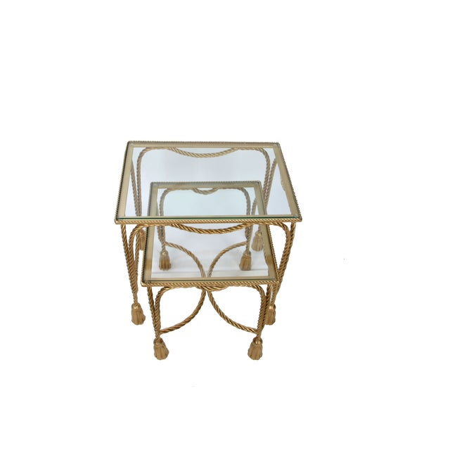 Decorative Gilt Metal Nesting Tables - a Pair - Image 4 of 9