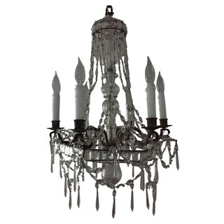 1910-1920 Stamped Bagues Crystal Chandelier