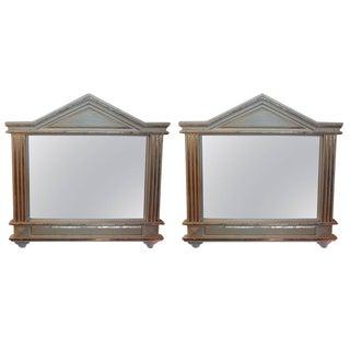 Italian Palladian Style Mirrors - Pair
