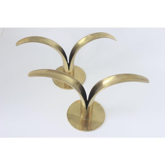 Ystad Metall Swedish Brass Candlesticks- A Pair - Image 5 of 8