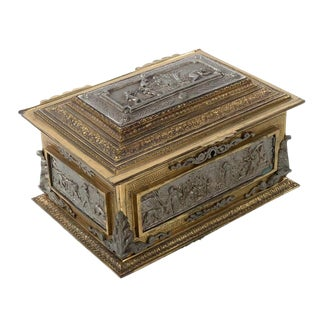 Antique Bronze & Mix Metals Jewelry Box
