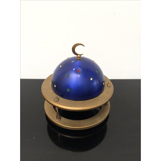 Image of Blue Zodiac Globe Pop-Up Cigarette Holder