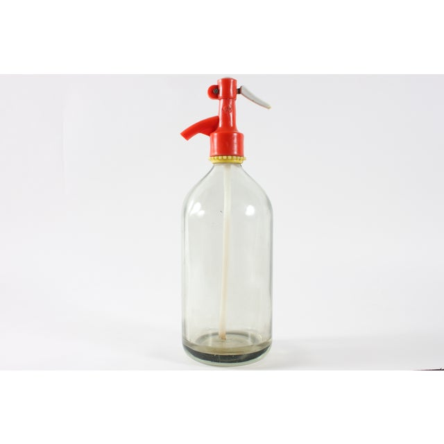 Image of Red Top Siphon Seltzer Bottle