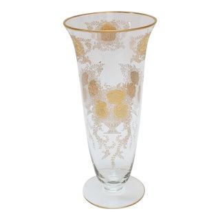 Gilded Floral Moser Vase