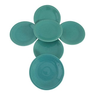 Green Fiesta Dessert/Bread Plates - Set of 6