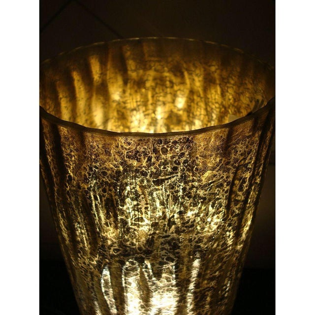 Modern Textured Metallic Glass Table Lamp - Image 5 of 6
