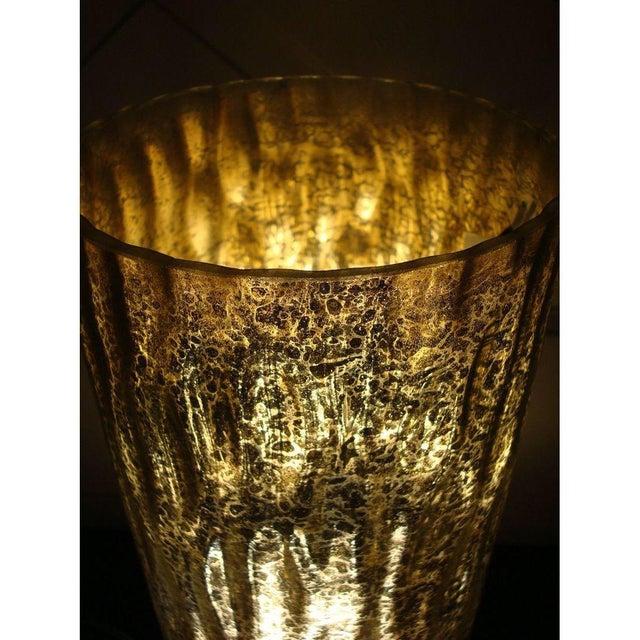 Image of Modern Textured Metallic Glass Table Lamp