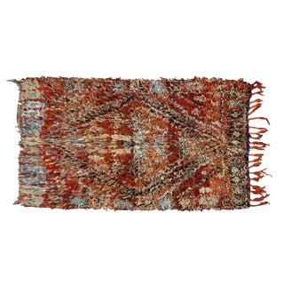 Moroccan Beni Ourain Vintage Rug - 5′4″ × 6′10″