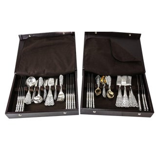 Sterling Silver Flatware Service - Set of 104