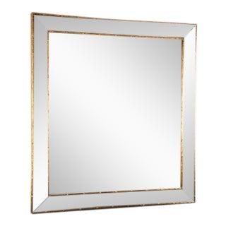 Antique Gold Bamboo Trim Beveled Mirror