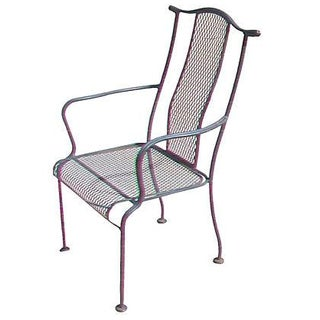 Black Wrought Iron Arm Chair