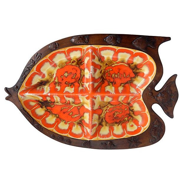 Mid-Century Modern Fish Serving Dishes - A Pair - Image 2 of 6