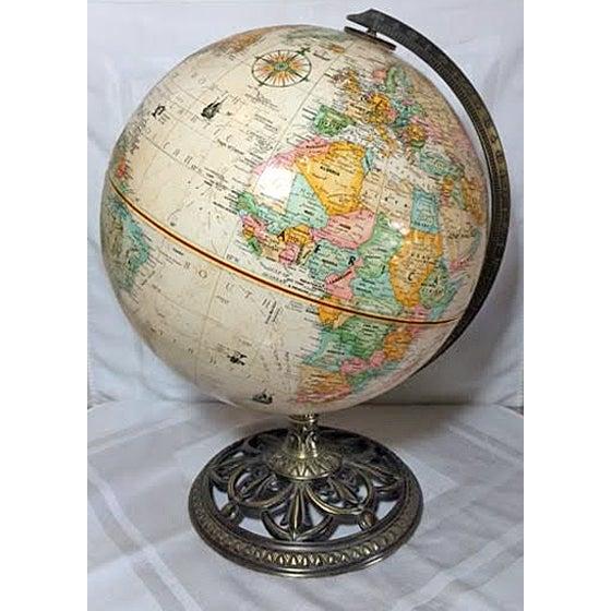 Globemaster Vintage World Globe - Image 2 of 6