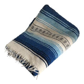 Vintage Mexican Serape Blanket Throw