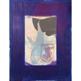 """Michael David """"Blue From the Being Series"""" Lithograph"""