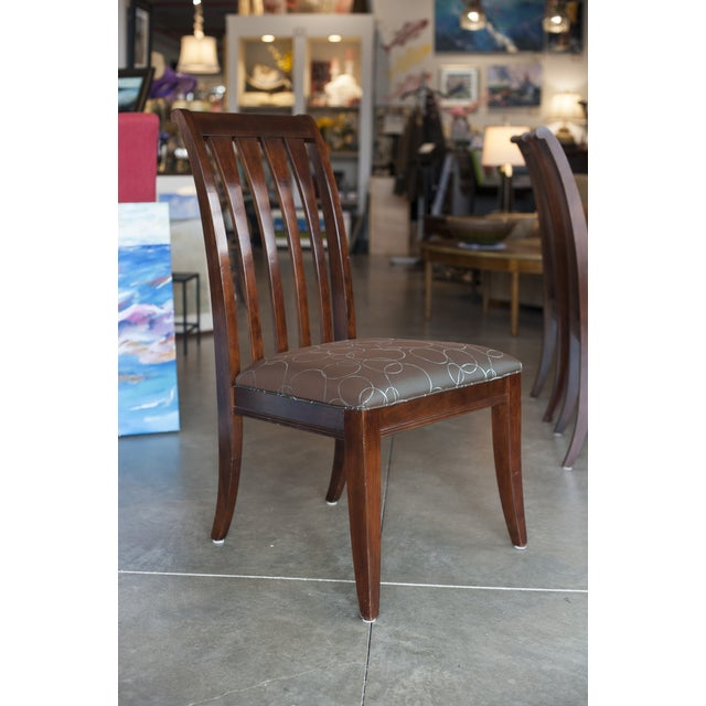 Ethan Allen Dark Mahogany Stained Dining Set - Image 6 of 8