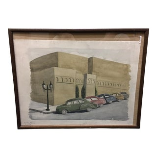 Dorothy Farlow 1952 Watercolor