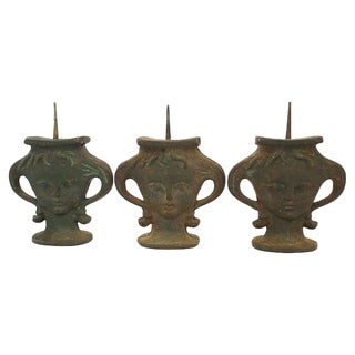 Iron Portrait Prickets - Set of 3