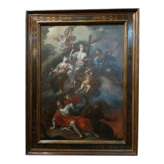 17th century Italian Old Master -Religious Mythological scene-original oil painting
