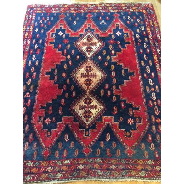 Vintage Ornate Kazak Persian Rug - 5' x 6' - Image 3 of 10