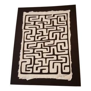 Limited Edition Paper Cut Art Kuba Cloth Pattern