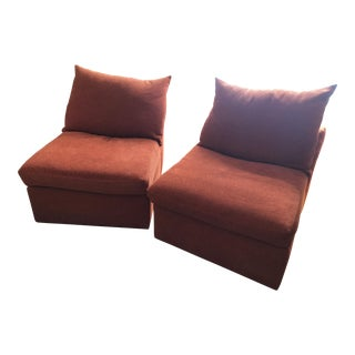 "Kreiss Collection ""Carrasco"" Slipper Chairs - A Pair"