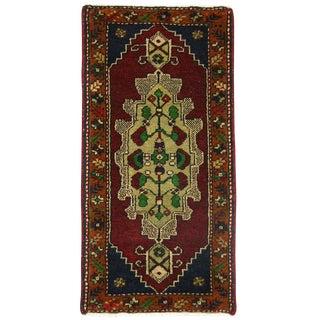 Medallion Yastik Turkish Carpet -- 1'7 x 3'1