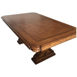 Thomasville Italian Wood Inlaid Trestle Dining Set