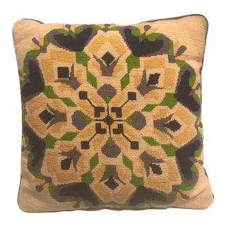 Vintage Abstract Needlepoint Pillow Cover