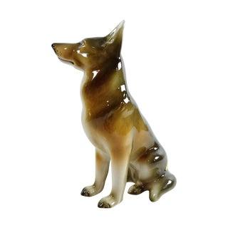 Royal Dux Bohemia Czech German Shepherd Figurine