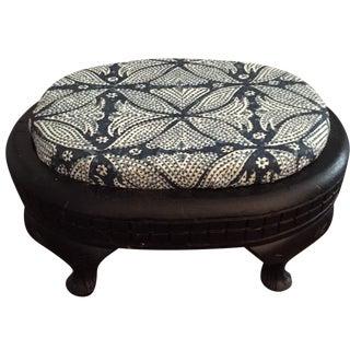 Vintage Martyn Bullard Fabric Footstool