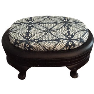 Vintage Footstool With Martyn Bullard Fabric