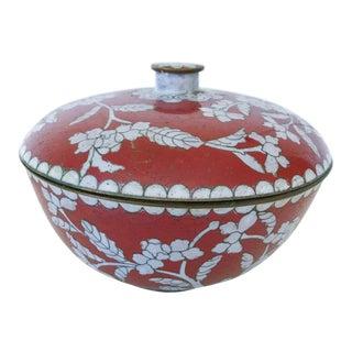 Vintage Chinese Lidded Metal Bowl