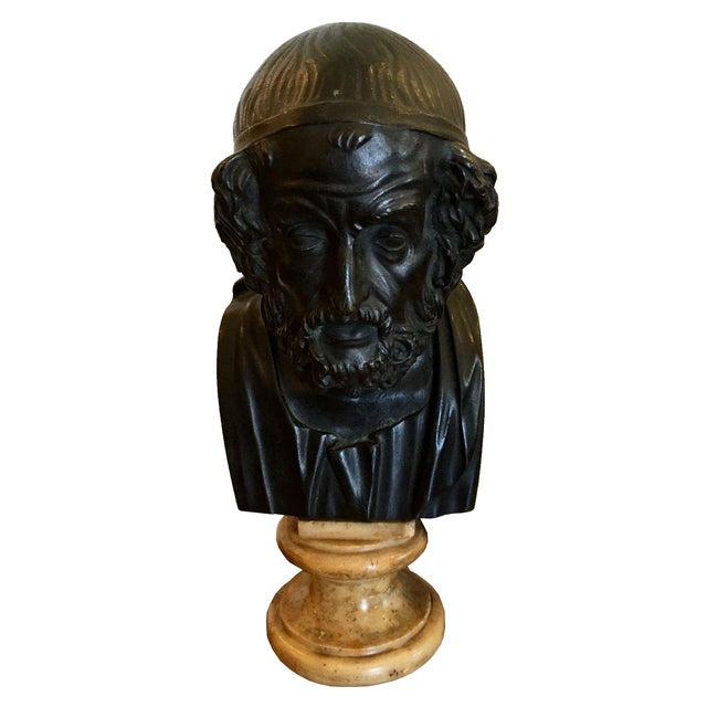 Antique Bronze Philosopher Bust - Image 1 of 5